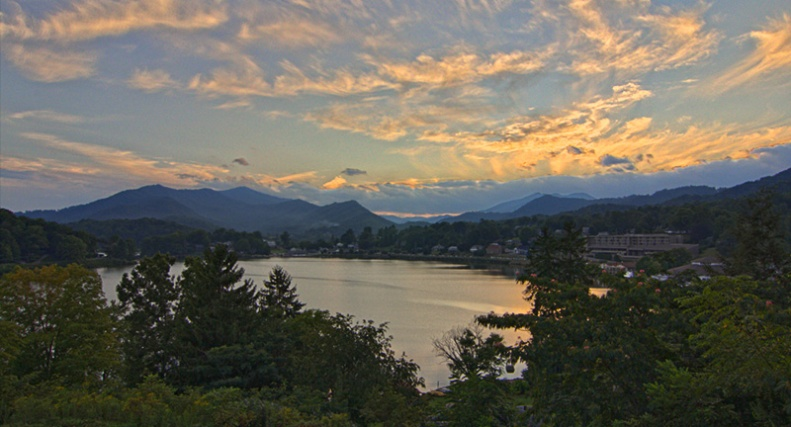 Sunset at Lake Junaluska