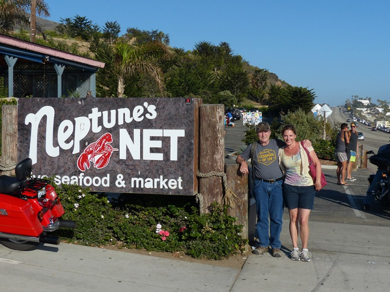 At the legendary seafood restaurant near Malibu, about 25 minutes from Ann's condo in Camarillo.