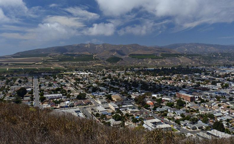 Overlooking part of the city of Ventura from Serra Cross Park